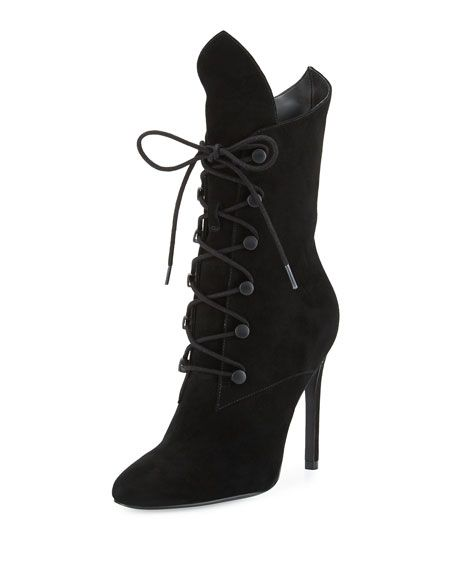 Свадьба - Maya Winged Lace-Up Bootie