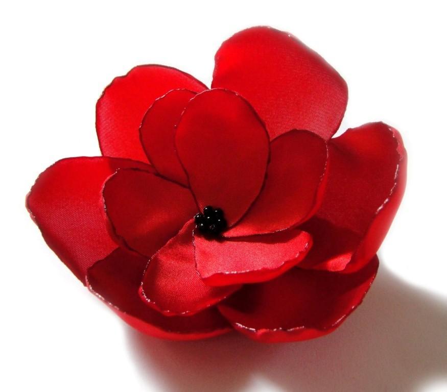 Свадьба - valentines day red rose love flower brooch