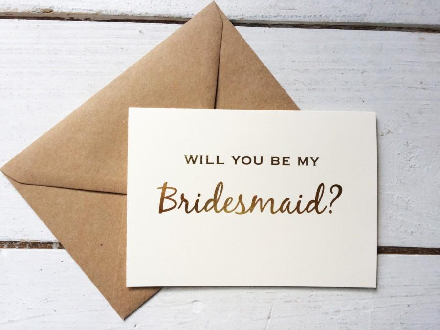 Gold foil will you be my bridesmaid  gold foil bridesmaid card  i can t say  i do without you. Gold Foil Will You Be My Bridesmaid  Gold Foil Bridesmaid Card  I