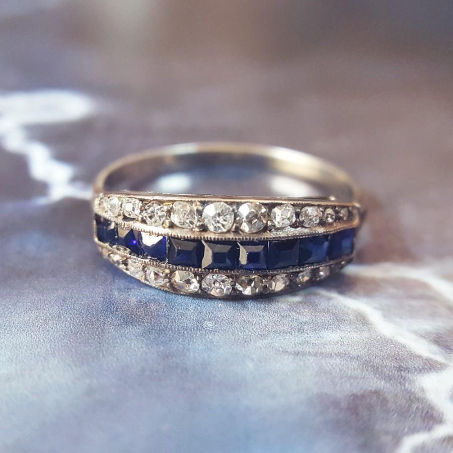 Hochzeit - Sapphire Wedding Band