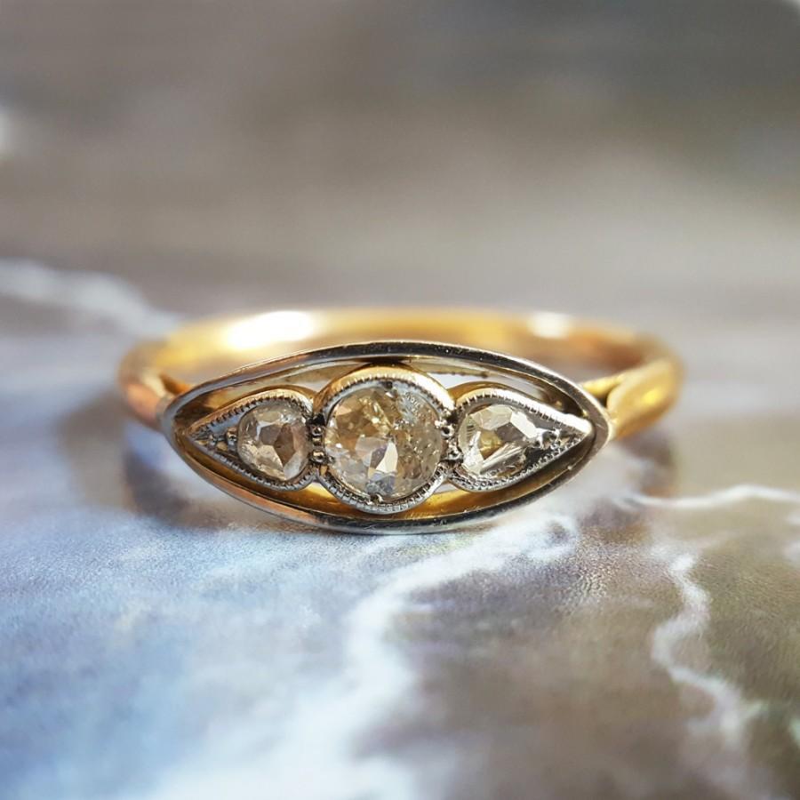 Hochzeit - Antique Engagement Ring