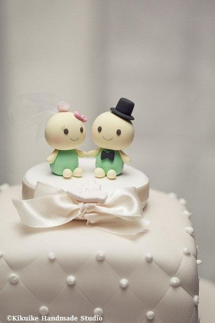 Hochzeit - turtles Wedding Cake Topper---k625