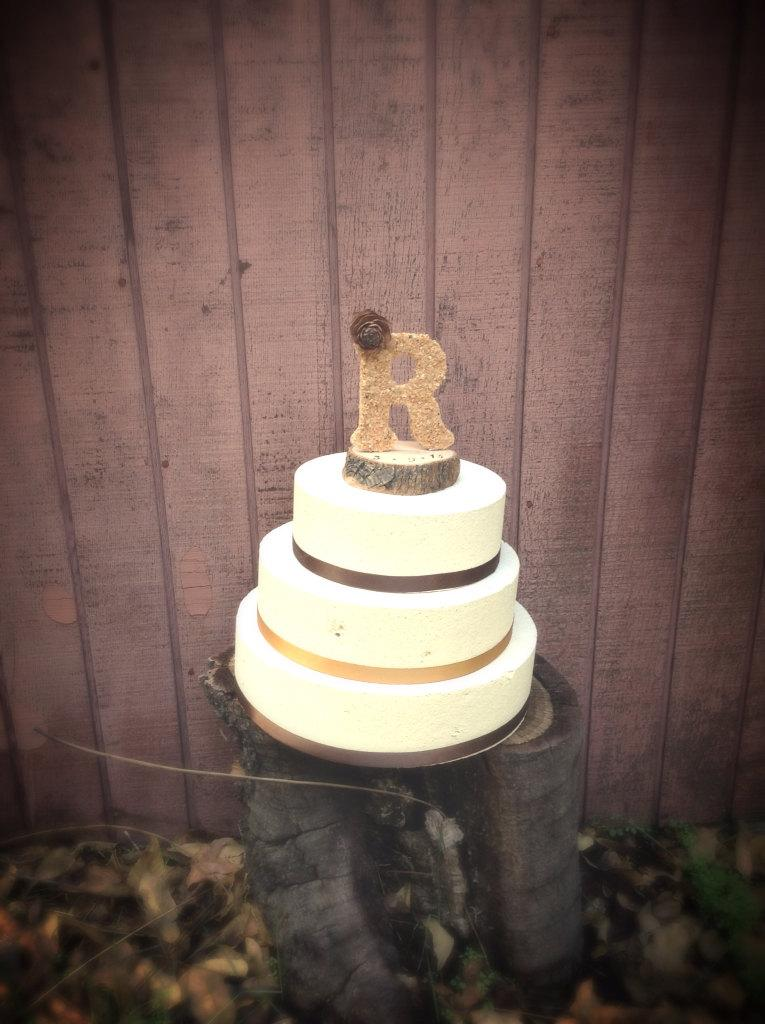 Wedding - Rustic wedding cake topper wooden letter country cowboy hat weddings