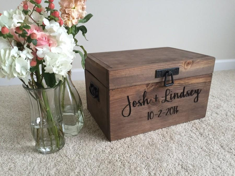 Mariage - Personalized Engraved Wedding Card Box