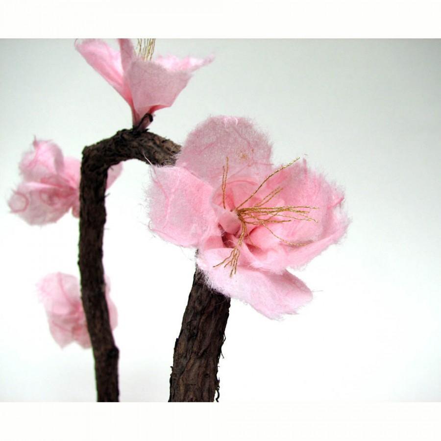 Mariage - Rustic Sakura Pink Cherry Blossom Cake Topper by Tanja Sova