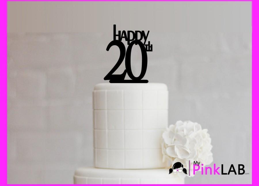 زفاف - Cake Decor Rustic-Happy birthday Cake topper-Birthday-All birthday cake toppers-happy 20th