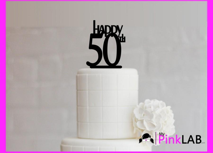 زفاف - Cake Decor Rustic-Happy birthday Cake topper-Birthday-All birthday cake toppers-happy 50th