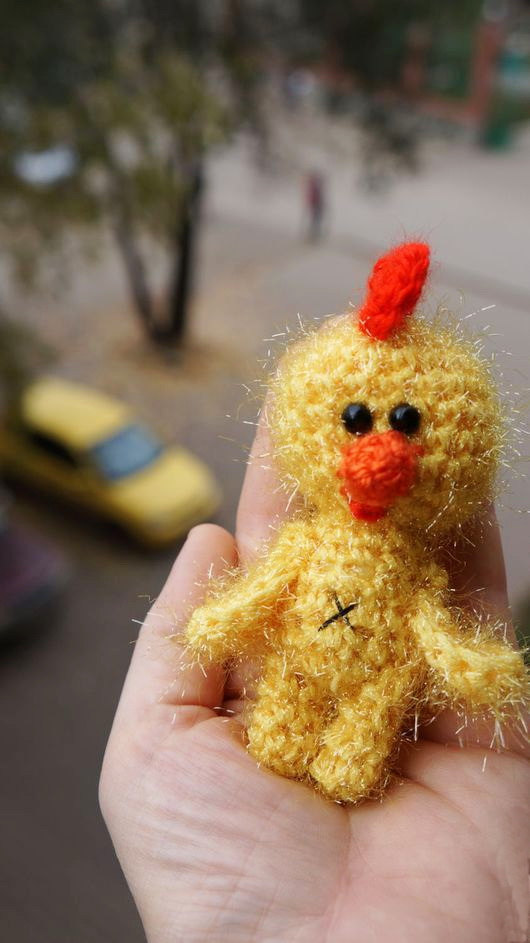 Crochet Amigurumi Chicken Plush Bird Small Stuffed Animal Kid S