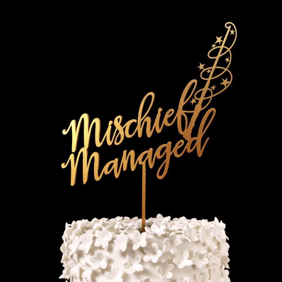 Mischief Managed Harry Potter Wedding Cake Topper