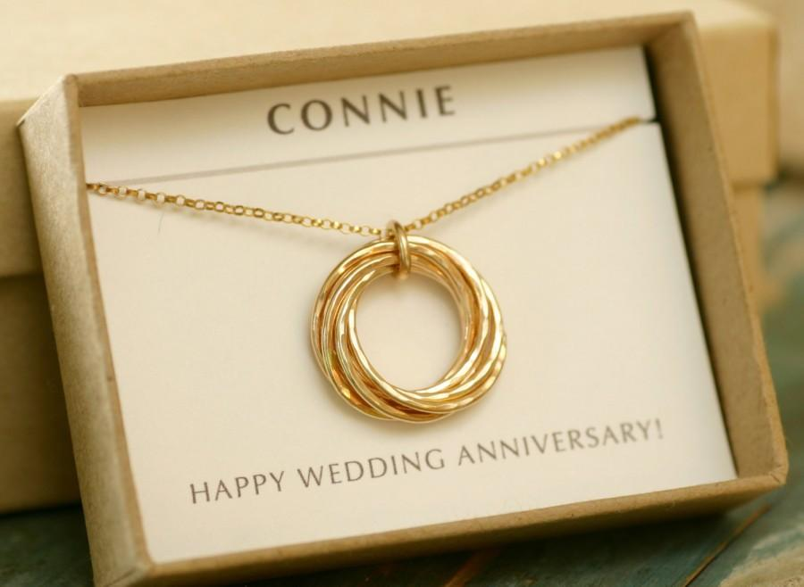 7 Year Anniversary Gift For Wife Necklace, 7th Anniversary