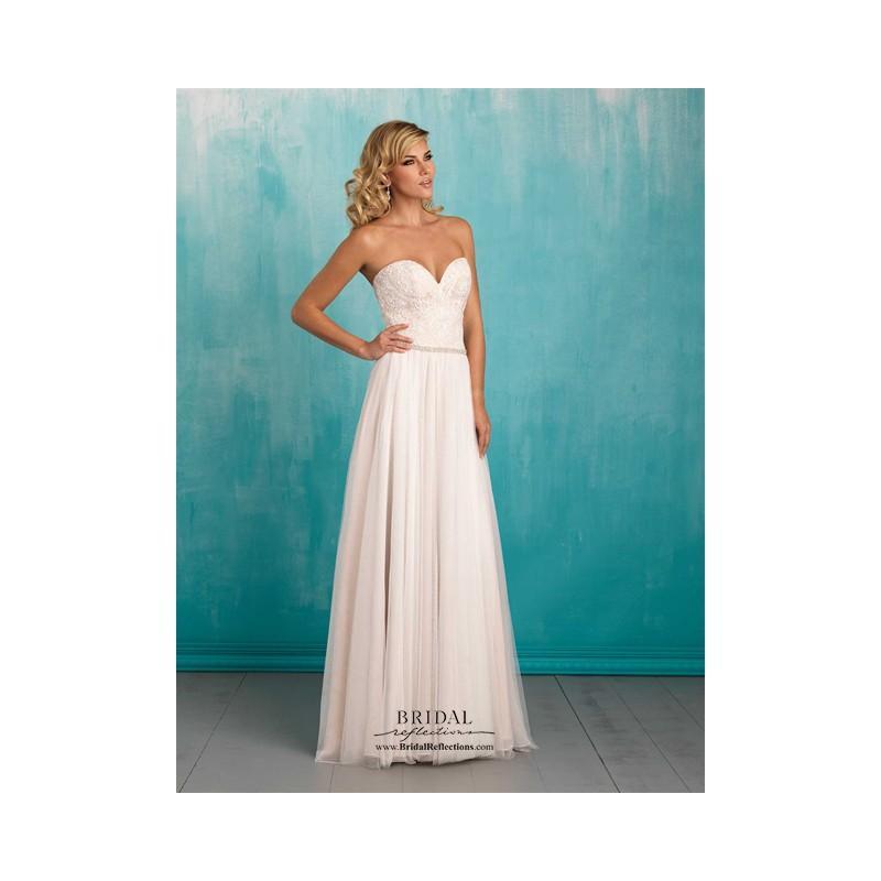 Wedding - Allure 9324 - Burgundy Evening Dresses