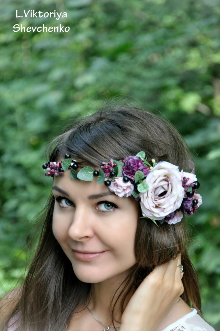 Fall flower crown autumn hair wreath fall wedding bridal floral fall flower crown autumn hair wreath fall wedding bridal floral crown flower halo flower crown flower hair wreath wedding flower crown izmirmasajfo