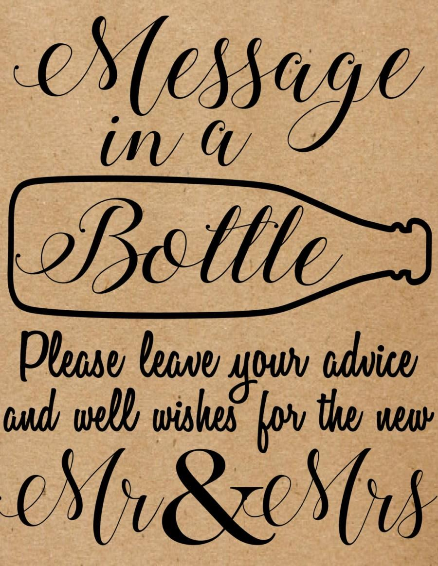 Düğün - INSTANT DOWNLOAD Message In A Bottle Sign, Rustic, Country, Wedding, Message In A Bottle Guest Book, Bottle Guest Book, Wedding Guest Book