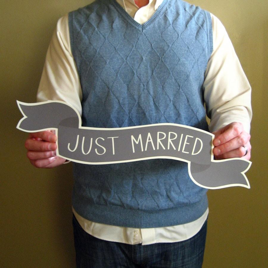Mariage - Large Banner No. 2 Wedding Photo Prop - Common Phrases