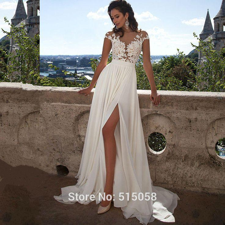 Wedding - Wedding Dress, Chiffon Lace Dress