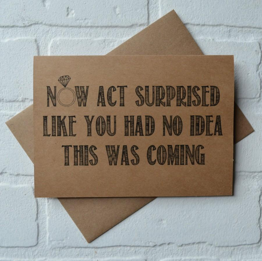 زفاف - Now ACT SURPRISED like you had no idea MAID of honor card funny bridal party card will you be my bridesmaid card act surprised proposal card