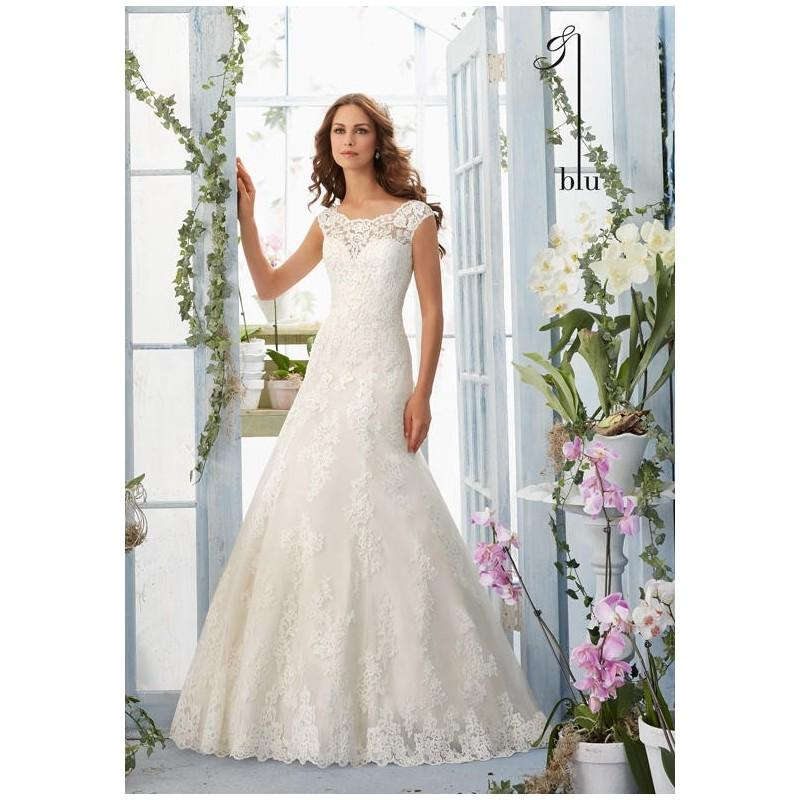 Blu By Madeline Gardner 5410 Wedding Dress