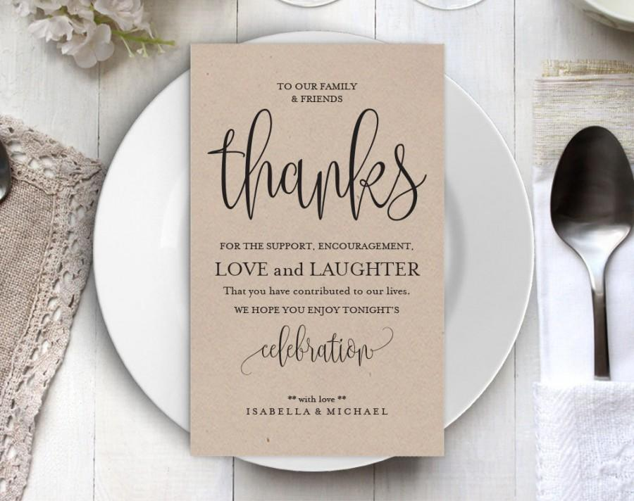 Wedding Thank You Printable Template