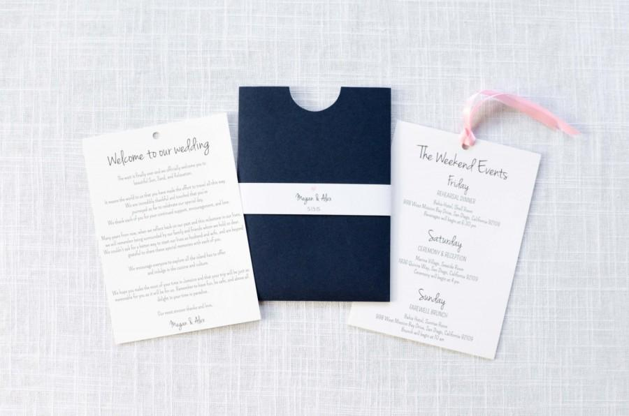Свадьба - Half Moon Enclosure Wedding Welcome Letter & Information Card / Itinerary / Welcome Bag / Welcome Letter / 316