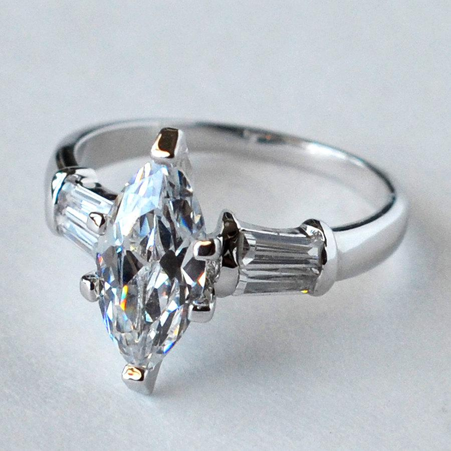 2.0ct Marquise Cut Engagement Ring Wedding Ring CZ Ring Anniversary Ring  Size 5 6 7 8 9 10   MC1080611AZ