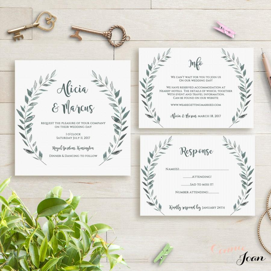 Wedding Invitation Template Rustic Printable Invitation Set #2593857 ...