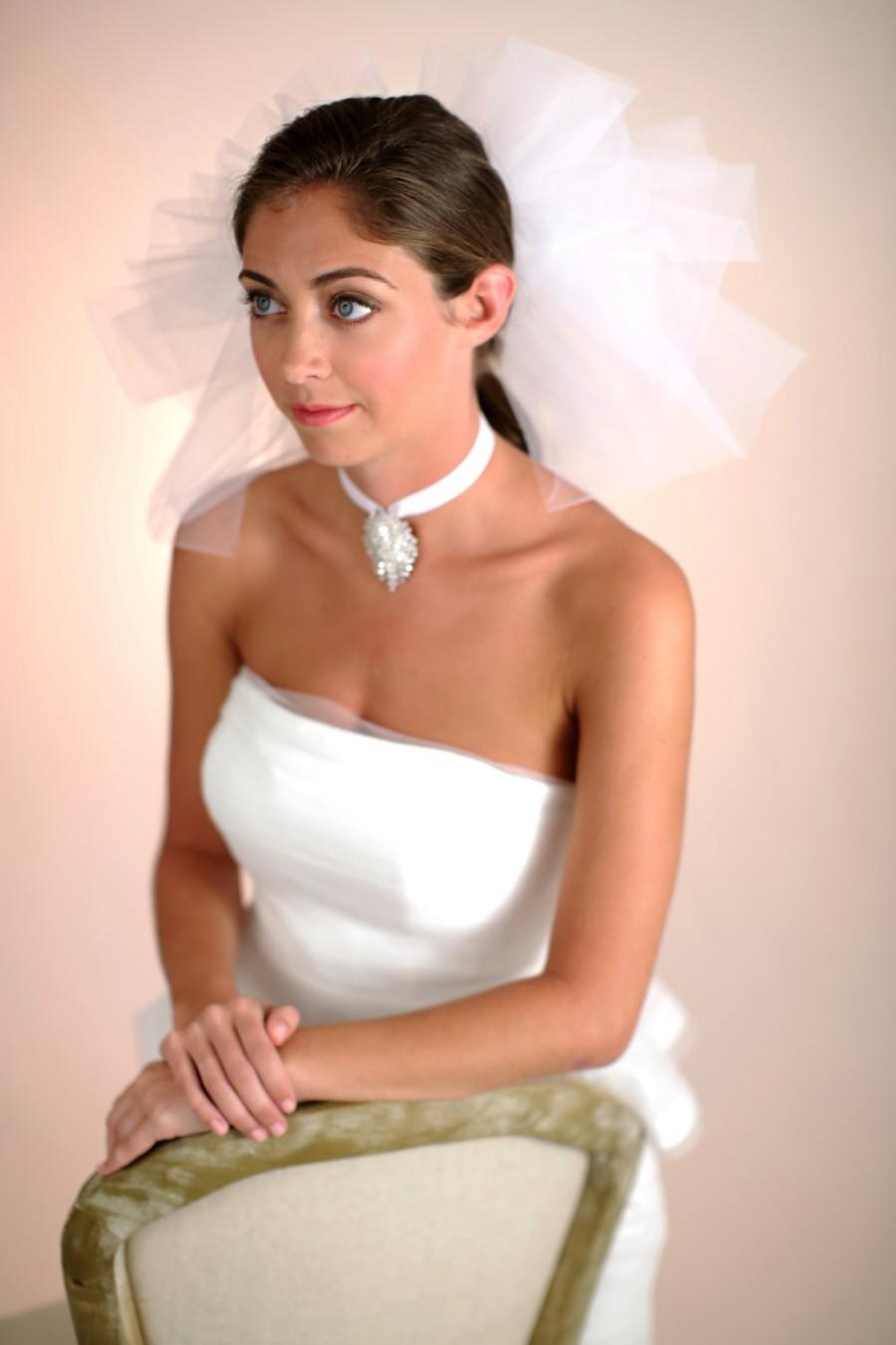 Mariage - Bridal Veil, Three Tier Pouf Veil, Wedding Veil, Tulle Poufs, Accessories, Veils, Style No. 4121