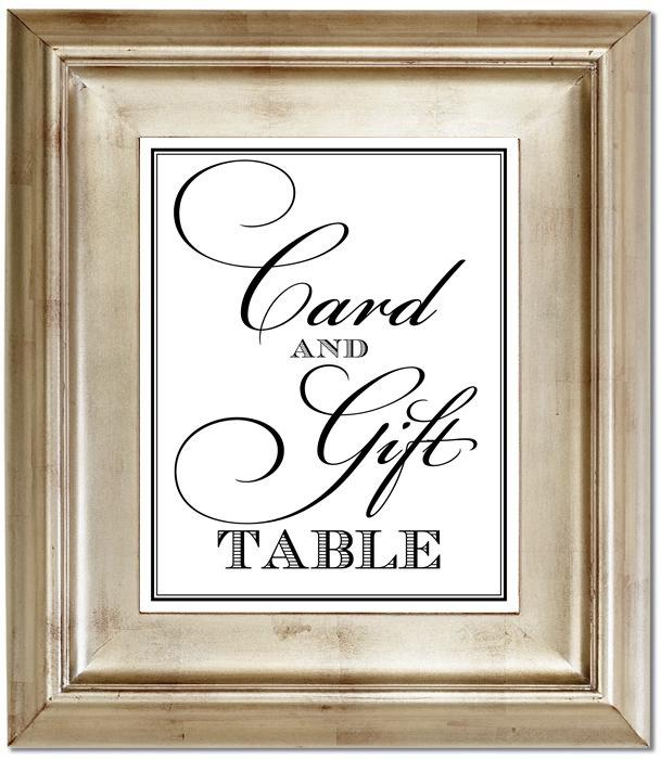 Mariage - Card and Gift Table 8x10 Wedding Sign Customized Personalized Typography Art Print