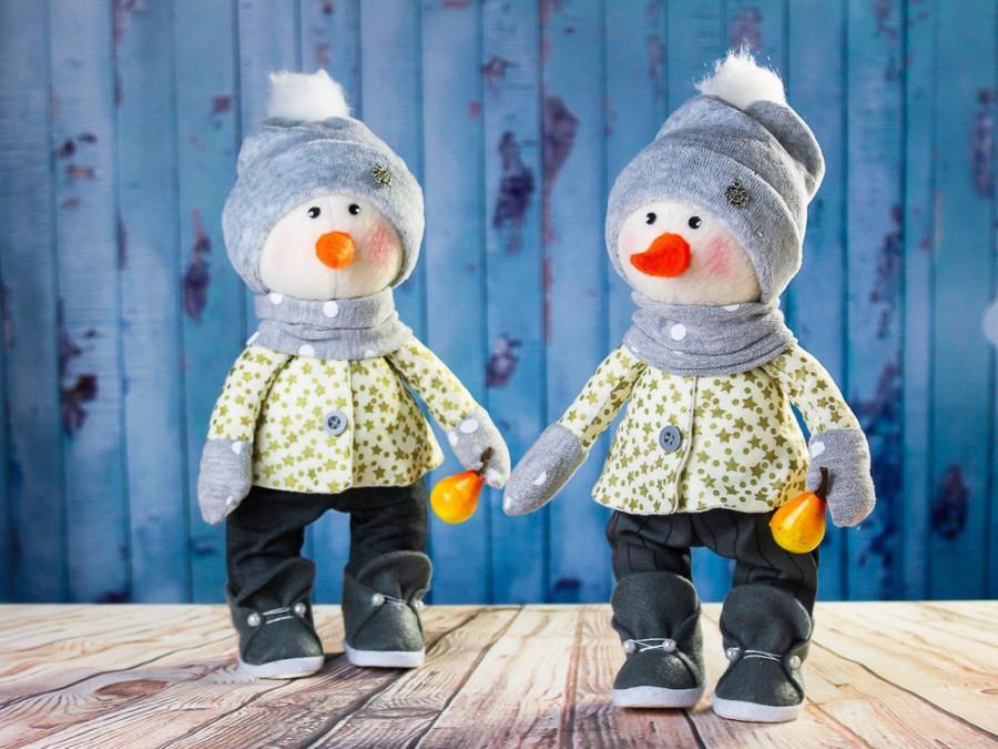 زفاف - Best price! Snowman Christopher. Textile toy. Snowman tilda. Soft toy Tilda toy Winter toy. Rag toy. Сloth toy. Interior doll. Christmas toy