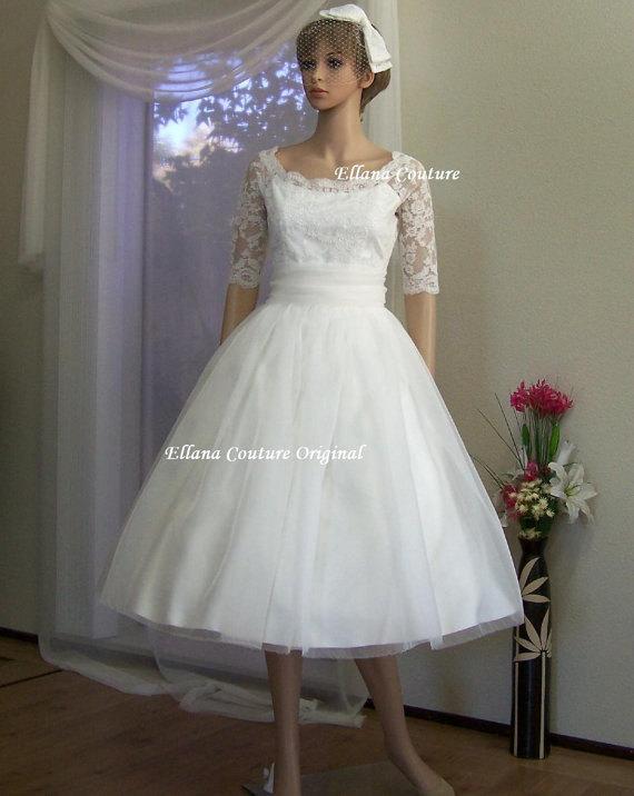 Leila - Vintage Inspired Wedding Dress. Beautiful Retro Style Bridal ...