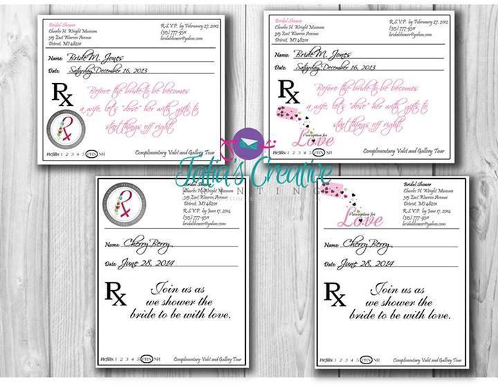 Hochzeit - Prescription Pad Invitation Digital File