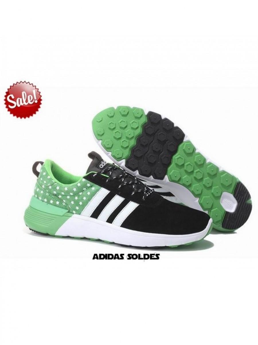 Dernière Mode Adidas Neo 2 Noir Blanc Vert Pomme Label