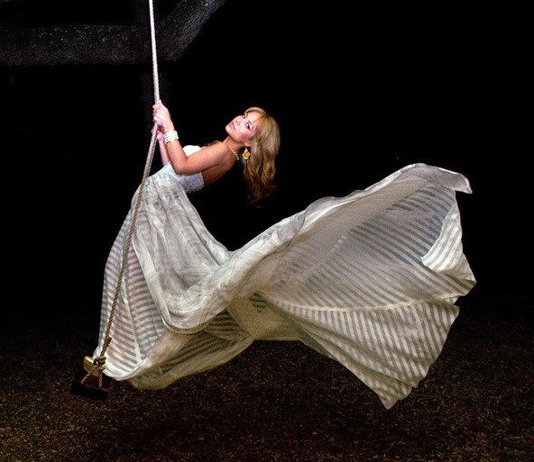 Wedding - Moonlight Serenade Couture Silk Chiffon Wedding Gown