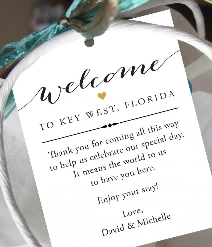 Do I Buy A Wedding Gift For A Destination Wedding : of 10 - Gift Tags for Wedding Hotel Welcome Bag - Destination Wedding ...