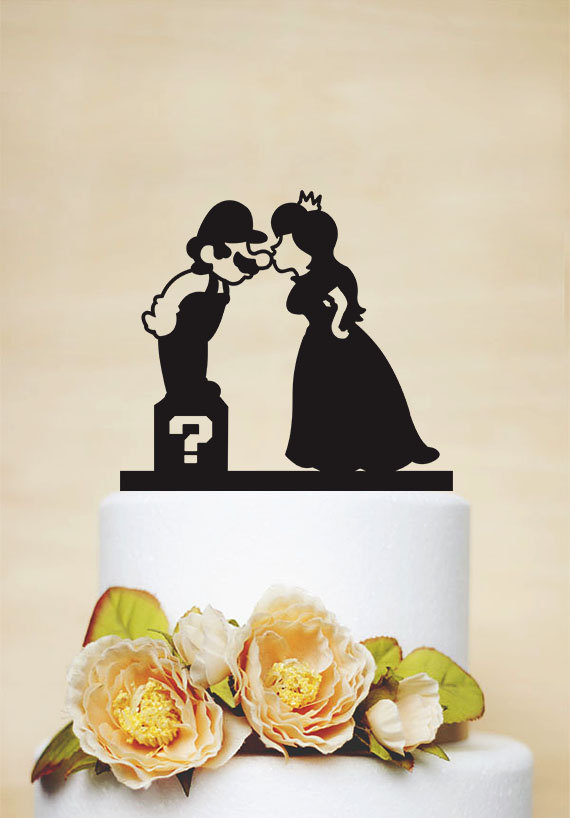 Super Mario Cake Topper,Mario And Princess Peach Cake Topper,Custom ...