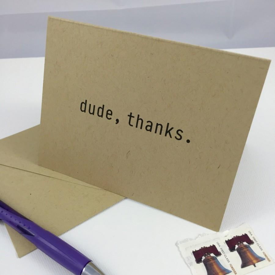 Mariage - The Dude 'Casual' Thank You Card - 10 note cards