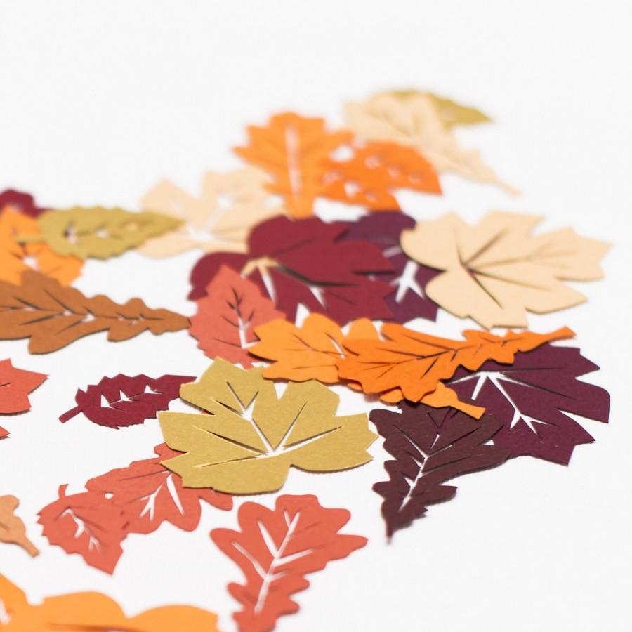 autumn leaf table confetti autumn wedding confetti thanksgiving