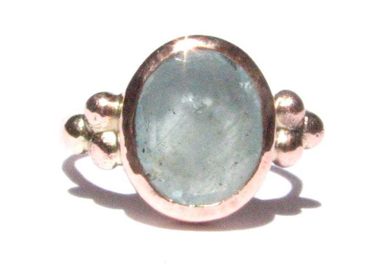 Свадьба - Aquamarine and Solid Rose Gold Ring - Aquamarine Engagement Ring -Stackable Ring -Statement Ring - Aquamarine Rose Gold - Solitaire Ring.