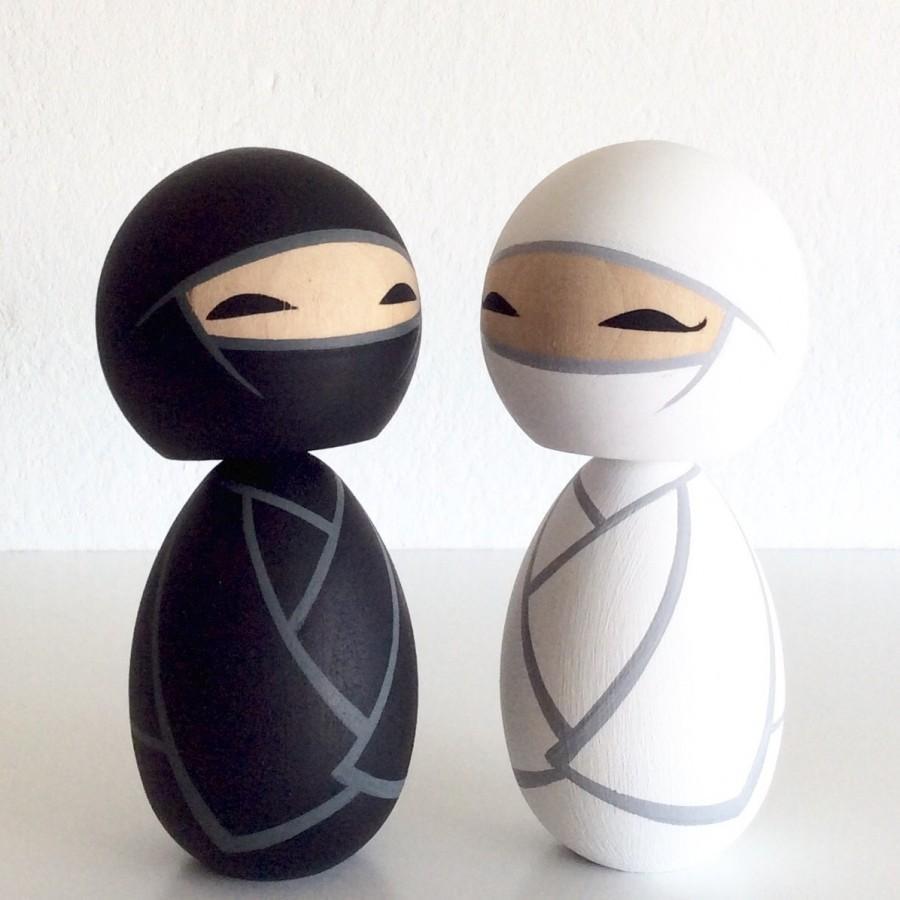 Mariage - Wedding Ninjas Kokeshi doll set