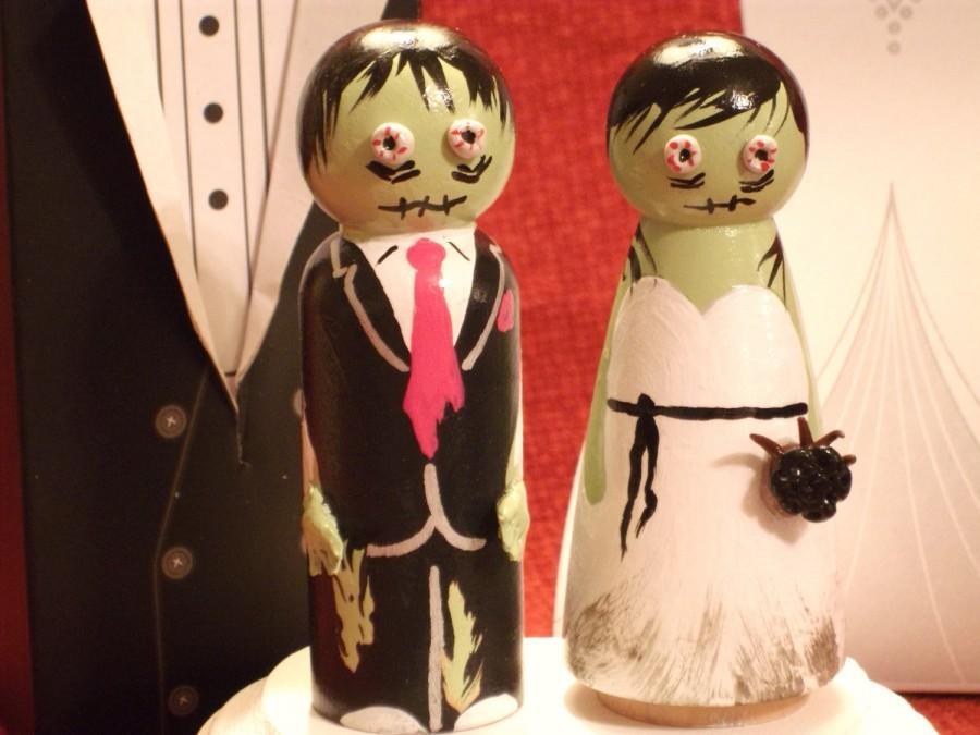 Mariage - Custom Zombie Cake Toppers - Semi Custom