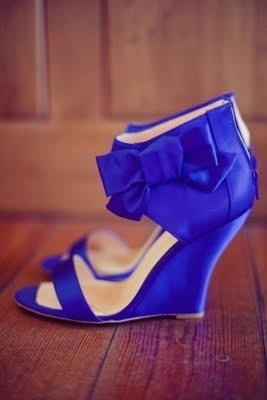 Свадьба - Cute Blue Wedges :)