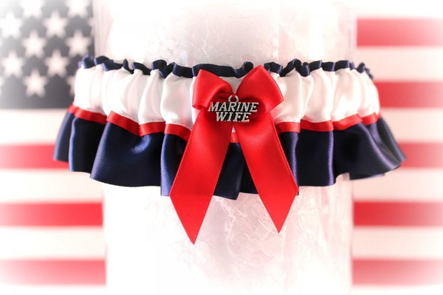 Usmc Wedding Garter Military Dress Blue Marine Patriotic Something