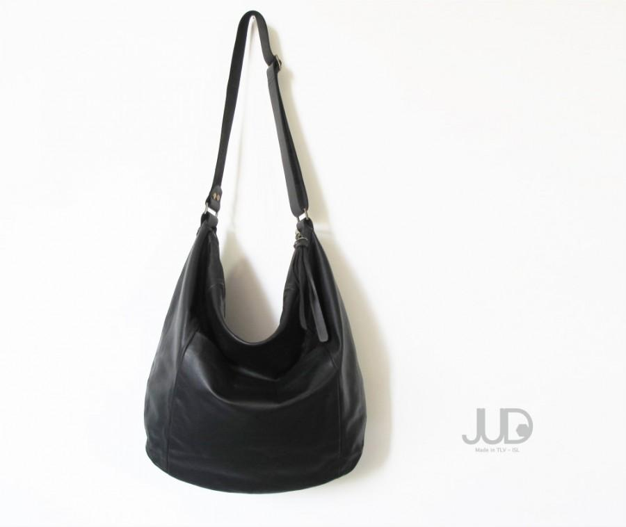 Black Leather Bag Leather Purse Sale Hobo Leather Bag Cross Body