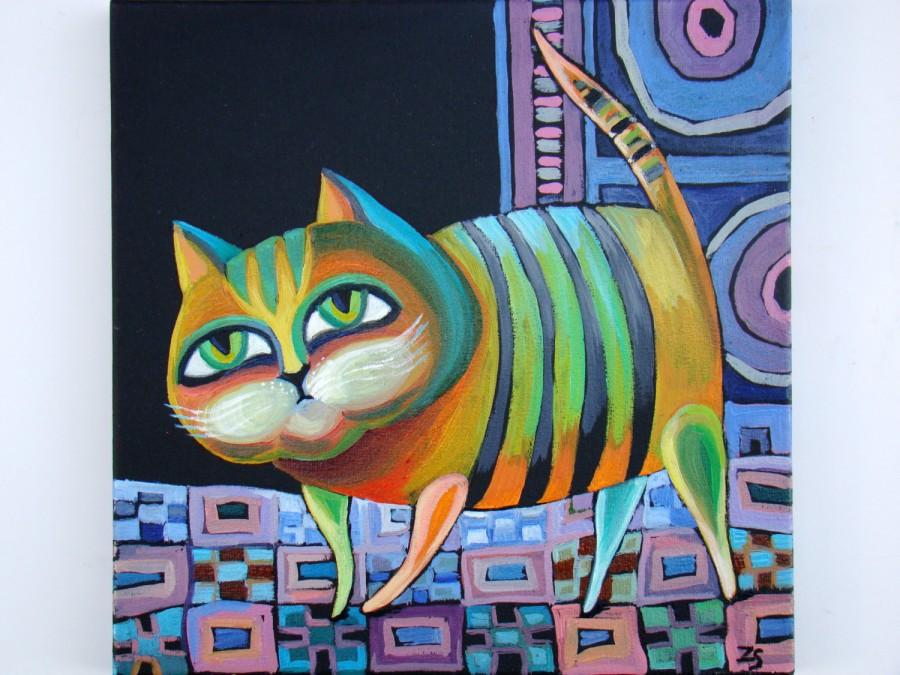 Paintings On Canvas Cat Oil Painting Canvas Art Oil Canvas Oil ...