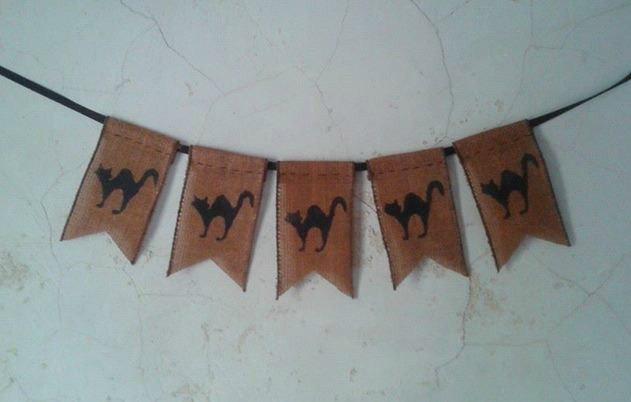 Mariage - Rustic Halloween Black Cat Banner