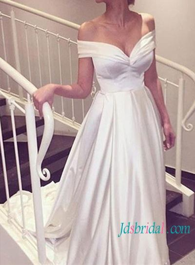 Mariage - Simple vintage princess off shoulder wedding dresses