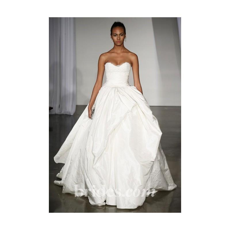 Marchesa fall 2013 jayden silk taffeta ball gown with for Cheap wedding dresses sale