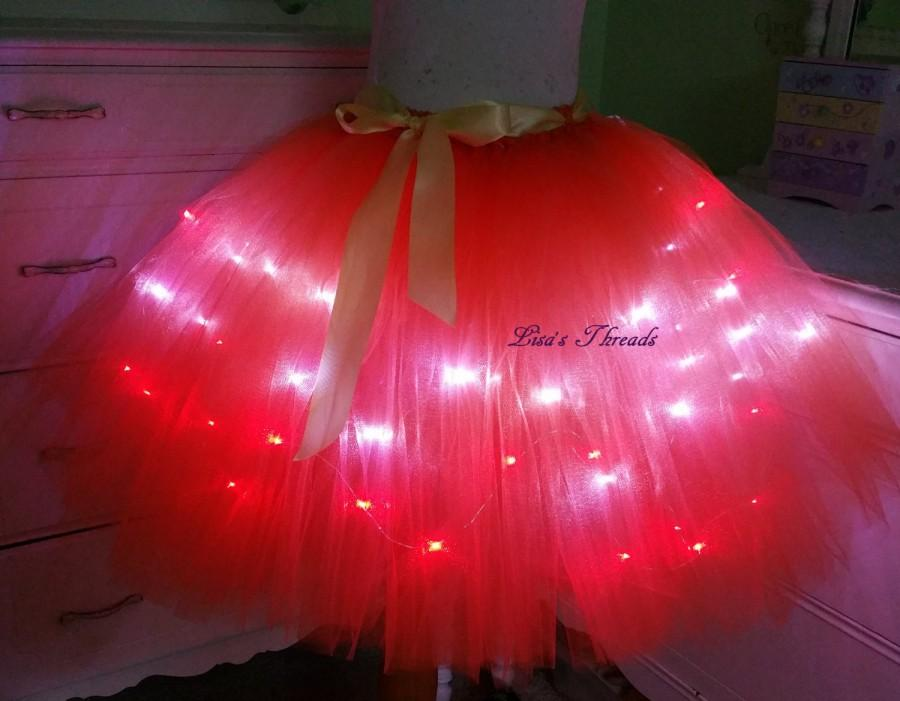 halloween tutu with led lights bridal tutu bridal shower skirt many colors available