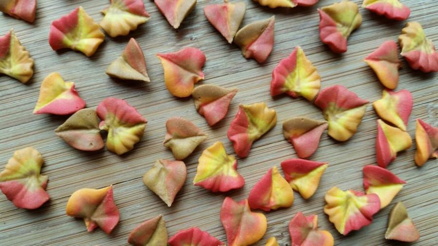 Fall Cupcake Decorations Part - 32: Fall Autumn Royal Icing Leaves In Assorted Styles -- Cake Decorations  Cupcake Toppers (48 Pieces)