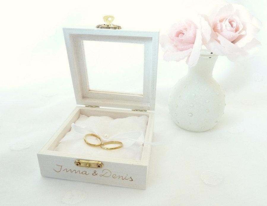 زفاف - Wedding Ring Box Ring Bearer Pillow Box White Ring Pillow Traditional and Elegant Wedding Pillow