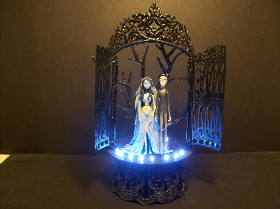 Corpse Bride & Victor Bride And Groom Wedding Cake Topper White ...